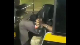 College girl literally sucking dick on the road