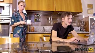 Mature blonde mother didnt expect her friends son to be so pervy xxx taboo