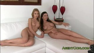 Two Russian young sisters fucked on casting amateur roleplay incest